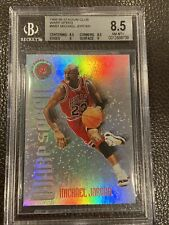 Michael Jordan 1995-96 Stadium Club Warp Speed Insert BGS 8.5 NM-MT+