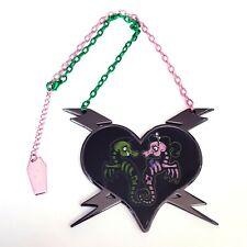 Kreepsville 666 Gothic Horror Psychobilly Skeleton Seahorse Love Choker Necklace