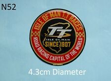 Isle of Man TT Road Racing Capital of the World 1907 Gel Badge Sticker R&B