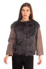 RRP €1480 ICEBERG Alpaca Fur & Leather Jacket Size 40 / XS Made in Italy