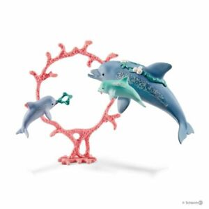 Schleich Bayala - Dolphin Mum with Babies - 41463 - Authentic - New