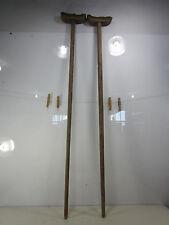 Antique Pair of Civil War Era Wooden Crutches