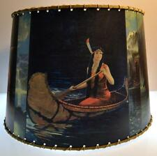 "Indian Maiden Lamp Shade 10"" x 12"" , Rustic Cabin Decor"