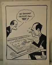 Cy Hungerford Original Illustration Art Richard Nixon Hubert Humphrey 1968