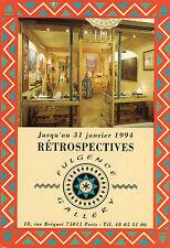 PARIS 18 rue Bréguet à Fulgence Gallery jusqu'au 31 Janvier 1994 Rétrospectives
