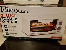 Elite Cuisine Eto-224 Personal 2 Slice Countertop Broil Bake Toaster Oven New