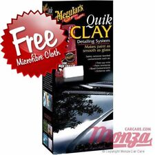 **NEW 2018** Meguiars Car Clay Bar Paintwork Cleaning Kit **FREE POLISH CLOTH**