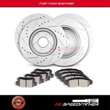Front Rear Brake Rotors Ceramic Pads Kit For 2004 2005 2006 2007 2008 Acura TL