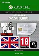 Xbox One Grand Theft Auto  GTA V 5 Shark Virtual Cash Card $2,500,000($2.5 mil)