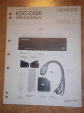 Kenwood Service Manual~KDC-C600 CD Changer/Player~Car Audio~Original Repair