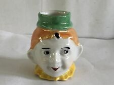 ANTIQUE RARE CLOWN FACE PORCELAIN TOOTHPICK HOLDER CUP MADE GERMANY VINTAGE MINT