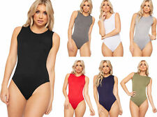 womens Ladies Sleeveless Stretch Bodysuit Leotard Vest Top   6007