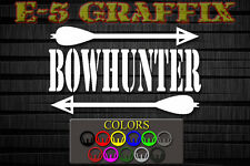 DEL Bow Hunter crossbow bow arrow vinyl decal hunting camping fishing