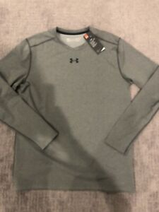 New Under Armour Coldgear Fitted Long Sleeve Tee T-Shirt Mens Large Grey