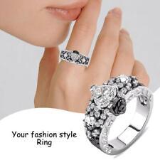 Skull Heart Flower Diamond Skeleton Ring Women's Rings Fashion Punk Jewelry