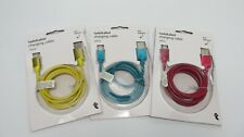 3 x Genuine Iphone Chargers - USB Charging Cables 1.2m x 3 Cables 12 11 X 8 7 6