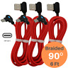 Braided 6FT 90 Degree Type C Cable Fast Charging Data Sync Android Charger Cord