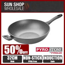 100% Genuine! PYROSTONE by PYROLUX 32cm Non-stick Wok! RRP $149.00!