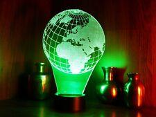 die Erde, Earth  3D LED Nachtlicht Tischl