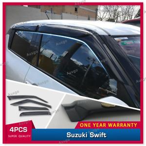 AUS Weather Shields Weathershields Window Visor For Suzuki Swift 2017+ #S