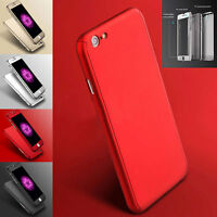 360° Hybrid Full Hard  Acrylic Case Cover Tempered Glass For iPhone 6 6S 7 Plus