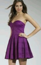 "BNWT ""  Lipsy "" Size 14 Purple Bandeau Prom Pleated Dress Weddings Party RRP£75"