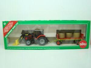 SIKU FARMER - 3955 - SET TRACTEUR M.F 4270 + REMORQUE - 1/32 - BOITE - ANCIEN -