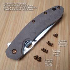 Spyderco Southard Knife Custom 10PC Ti Titanium Screw Set Anodized in BRONZE