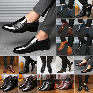 Men Dress Tuxedo Formal Oxfords Shoes Lace up Brogue Business Work Office Shoes