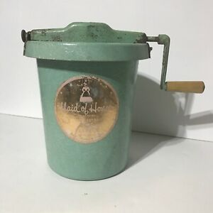 Vintage Maid Of Honor Ice Cream Maker Hand Freezer
