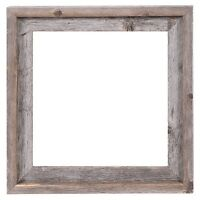 """12x12-2"""" Wide Signature Reclaimed Rustic Barn Wood Open Frame No Glass or Back"""