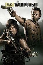 """The Walking Dead 1 2 3 4 TV Zombie Fabric poster 20"""" x 13"""" Decor 91"""
