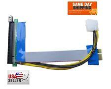 PCI-E 1X to 16X Riser Card Flexible Extender Cable Cord Molex + Capacitor