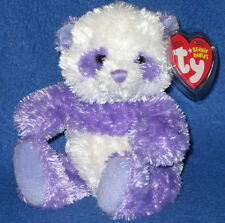 TY DANCY the PURPLE PANDA BEANIE BABY - MINT with MINT TAGS