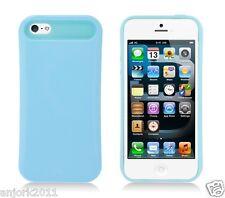 Apple iPhone 5 Hybrid Back Cover Skin Case Pastel Glow in Dark Baby Blue