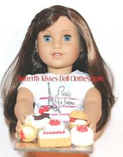 Eiffel Tower Tray + 6 French Pastries 18 in Doll Food For American Girl  #B