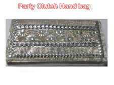 Women Silver Crystal Clutch Bag Purse /Ladies Evening Party Bridal Prom Hanbags