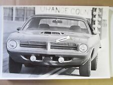 "1970 Plymouth Hemi Barracuda 426 Coupe 12 By 18"" Black & White PICTURE"