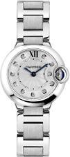 WE902073 Brand New Cartier Ballon Bleu 28mm Steel Women's Diamond Watch