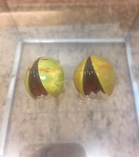 Limited Edition Jorge Caicedo Montes de Oca Bakelite Art Deco Earrings