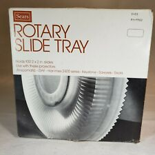 Sears Rotary Slide Tray Holds 100 2 x 2 in slides Use with Keystone Sawyer Sears