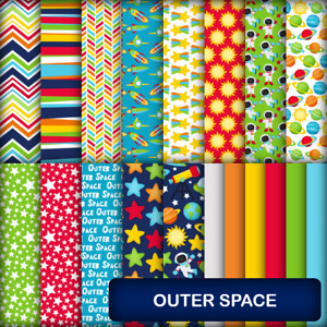 OUTER SPACE SCRAPBOOK PAPER - 19 x A4 pages