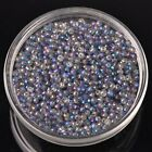 500pcs 3x2mm Rondelle Faceted Crystal Glass Loose Beads Blue Colorized