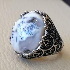 Turkish Dendritic Agate 925 Starling Silver Mens Ring Anniversary Jewelry P1635
