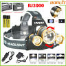 BORUIT 30000 LM 3xXML L2 LED Rechargeable Headlamp Headlight Zoomable Head Torch