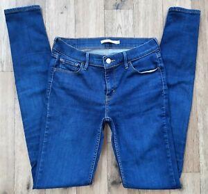 Ladies Levis 710 Super Skinny Jeans size 10 12 Waist 29 long leg 34 Levi jeans