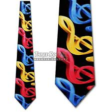 Music Tie Treble Clef Neckties Mens Colorful Musician Neck Ties Brand New