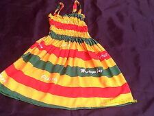 Handmade Jamaica Rasta Colour Dress.......2-4yrs