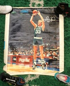 Larry Bird Signed Canvas Poster 1/50 RARE