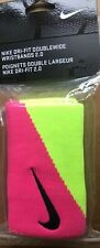 Nike  Double -Wide Wristbands - Comes with 2 Wristbands - Pink / Volt Colour